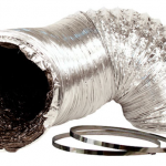 Ideal-Air Silver/Black Ducting — 4 inch x 25′