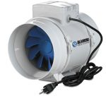 Blauberg Turbo Inline Mixed Flow Fan – 4 inch 105 CFM