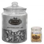 Harvest Keeper Glass Storage Apothecary Jars w/ Sealed Lid – 4 oz – case of 72