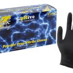 Black Lighting Powder Free Nitrile Gloves Small (100/Box)