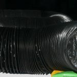 6 inch x 25′ Black Lightproof Ducting w/Clamps