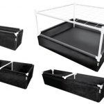 GeoPot GeoPlanter and Tray Liner Black – 3′ x 3′ x 12″ 67 Gallons