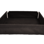 GeoPot GeoPlanter and Tray Liner Black 4′ x 4′ x 12″ 120 Gallons