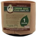 Gro Pro Premium Round Fabric Pot – Tan – 1 Gal