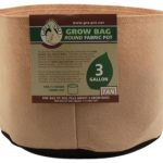 Gro Pro Premium Round Fabric Pot – Tan – 3 Gal