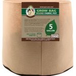 Gro Pro Premium Round Fabric Pot – Tan – 5 Gal
