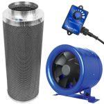 Hyper Fan 10 inch – 1065 CFM + Phresh 1400 CFM Carbon Filter Combo