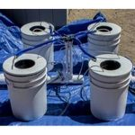 PowerFlow DWC Hydroponic System – 4 bucket
