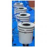 PowerFlow DWC Hydroponic System – 4 bucket – single row