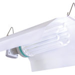 Sun System White Wing Fluorescent Fixture w/ 8′ Power Cord